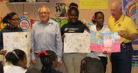 The Snook Youth Center participated in Foley Lions International peace poster contest.