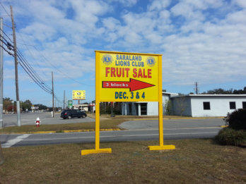 Saraland Lions Club Fruit Sale